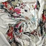 Gardams digitally printed pure silk