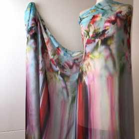 Gardams European digitally printed silk
