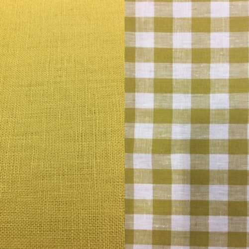 R4 chartruese check and plain 1