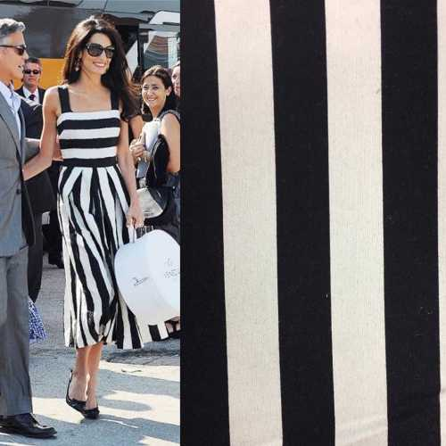 M1 black and white linen stripe and dress