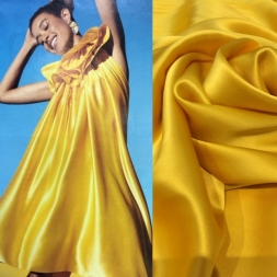 Yellow silk satin 1