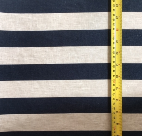 Navy stripe linen M1 2