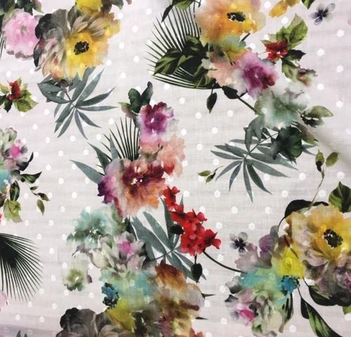 A very pretty print on a wonderfully cool dobby spot cotton